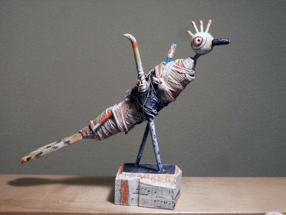 "Bird #4 / 8""H x 10""W x 4""D / 2013"