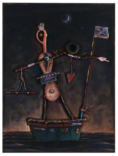 """Guy in a Boat #1 / 24""""H x 18""""W /1996"""