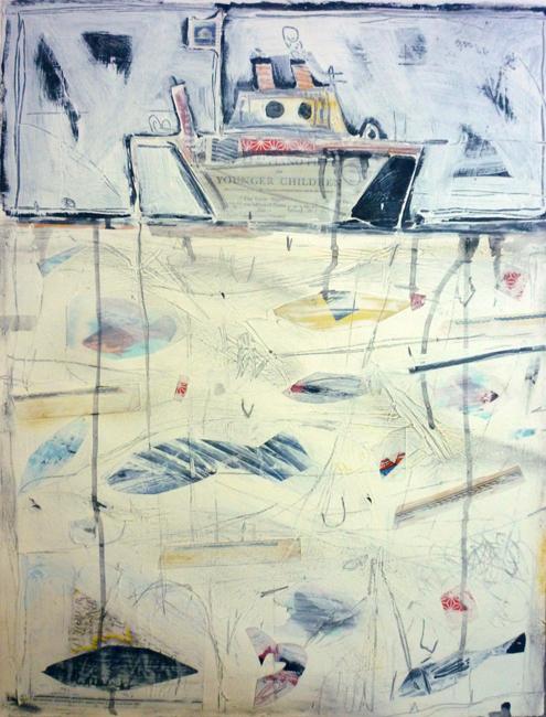 """Deep Sea Fishing 24""""H x 18""""W / 2011"""