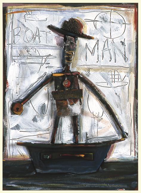 """Boat Man / 12""""H x 8""""W / 1996"""