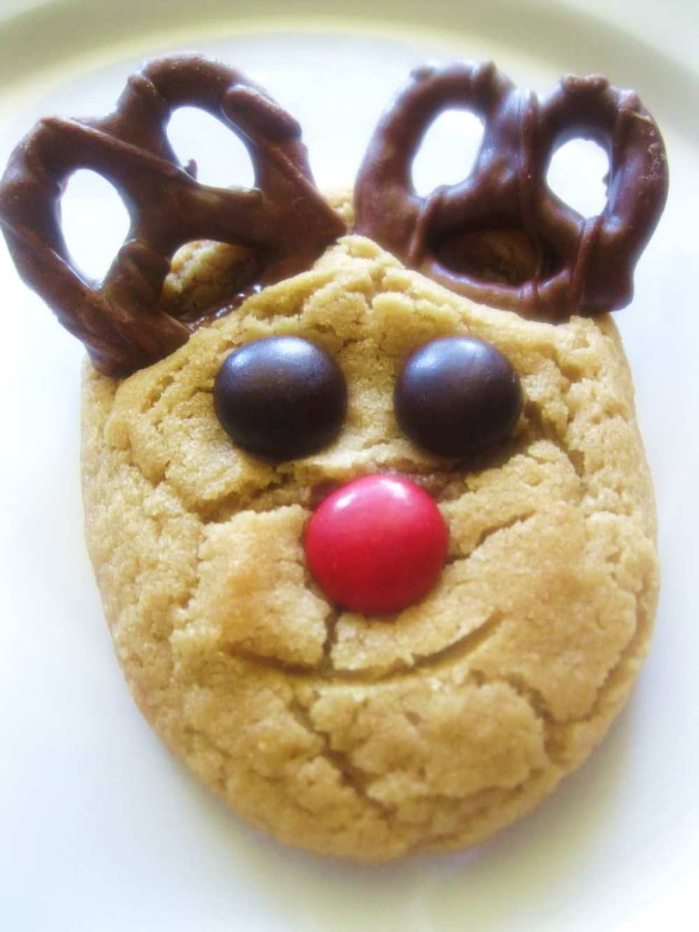 Reindeer Peanut Butter Cookie