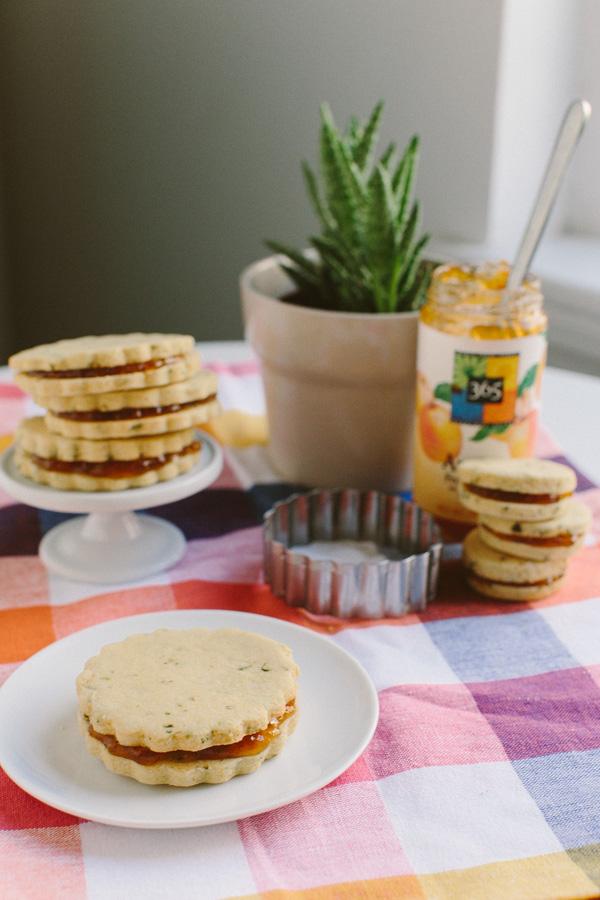 Basil Cornmeal Shortbread Sandwiches // Becca Bakes (www.becca-bakes.com)