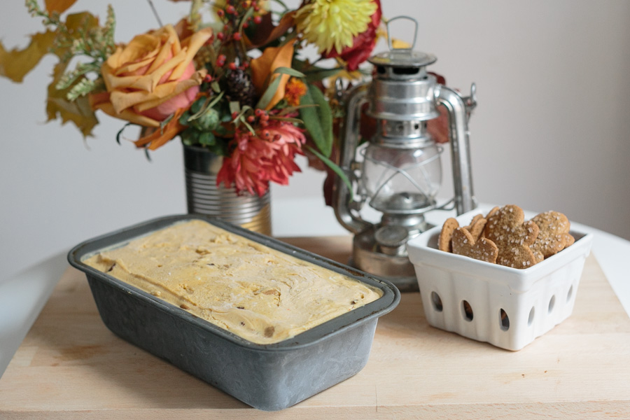 Pumpkin Spice Brownie Ginger Snap Ice Cream | Becca Bakes (www.becca-bakes.com)