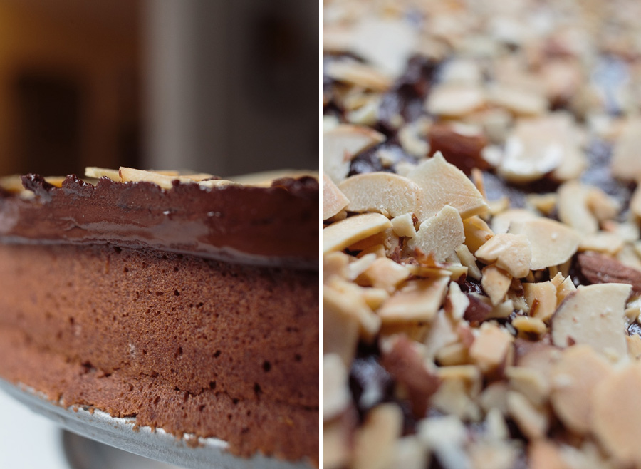 Mast Brothers Chocolate Almond Cake | Becca Bakes (www.becca-bakes.com)