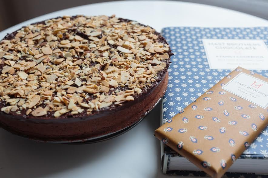 Mast Brothers Chocolate Almond Cake | Becca Bakes (www.becca-bakes.com)