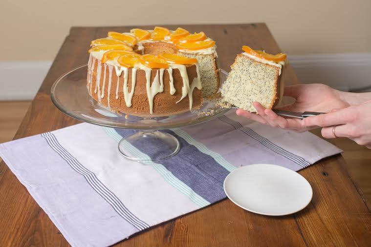 Tangerine Poppy Seed Chiffon Cake | Becca Bakes (www.becca-bakes.com)