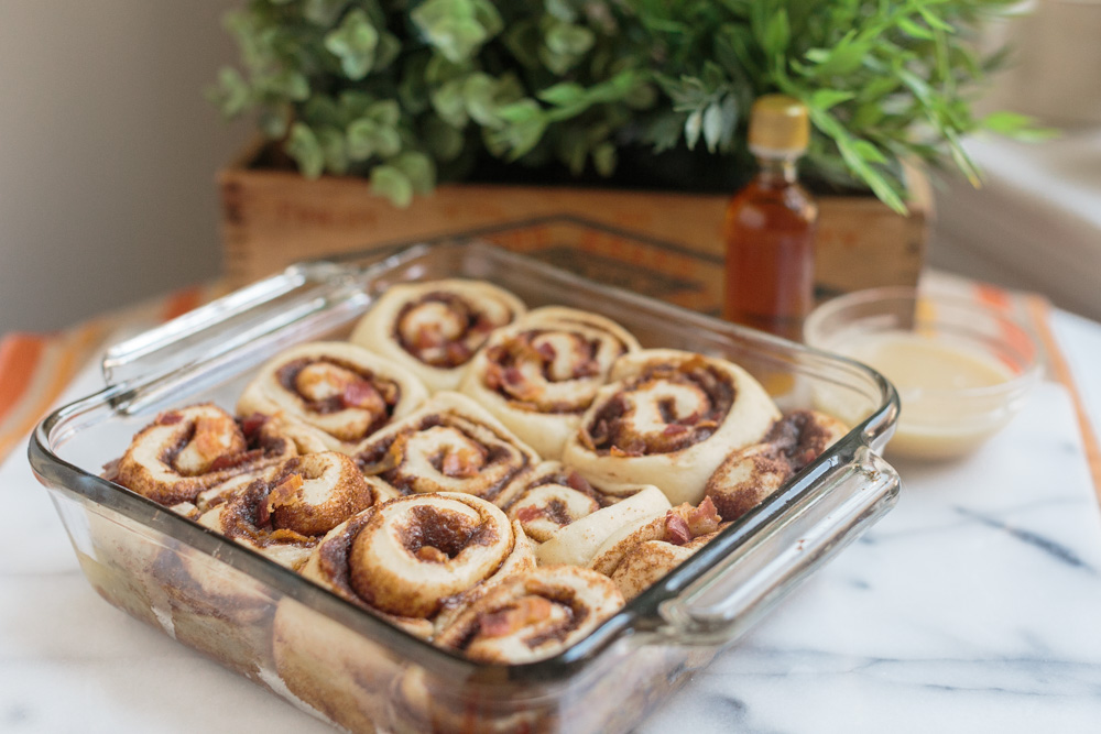 Maple Bacon Cinnamon Rolls | Becca Bakes (www.becca-bakes.com)