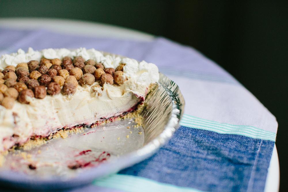 No Bake Peanut Butter & Jelly Pie | Becca Bakes (www.becca-bakes.com)