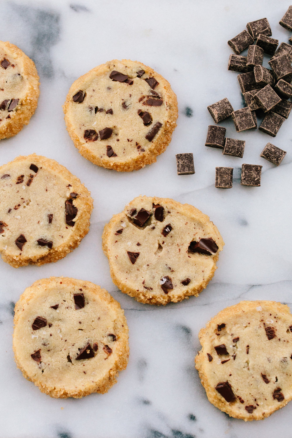 Salted Butter Chocolate Chunk Shortbread Cookies | Dining In | Becca Bakes