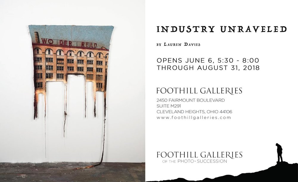Coming this Summer at  Foothill Galleries  in Cleveland.