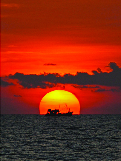 Sailing the sunset print - Lazy Beach cambodia.jpg
