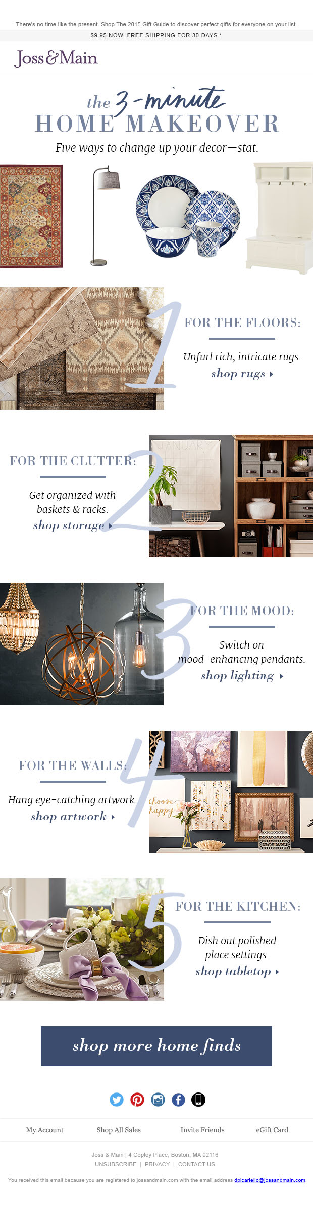 Home Makeover Email