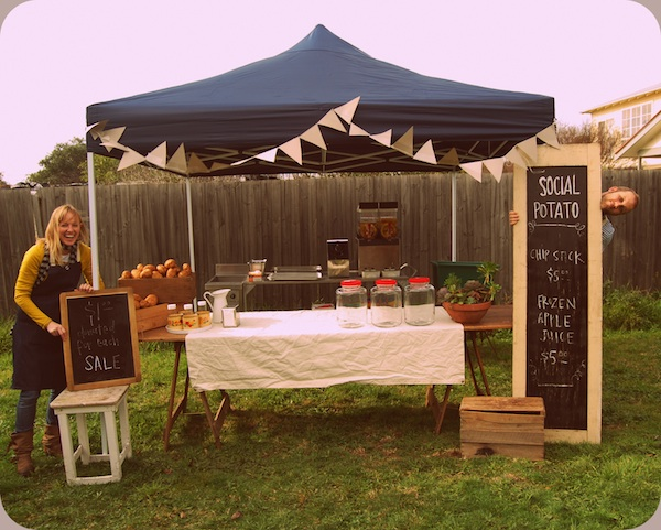 Social Potato Social food business aiming to raise $100k for good causes.