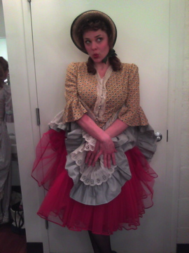Backstage during  Carousel  at  Michael Schimmel Center for the Arts, NYC