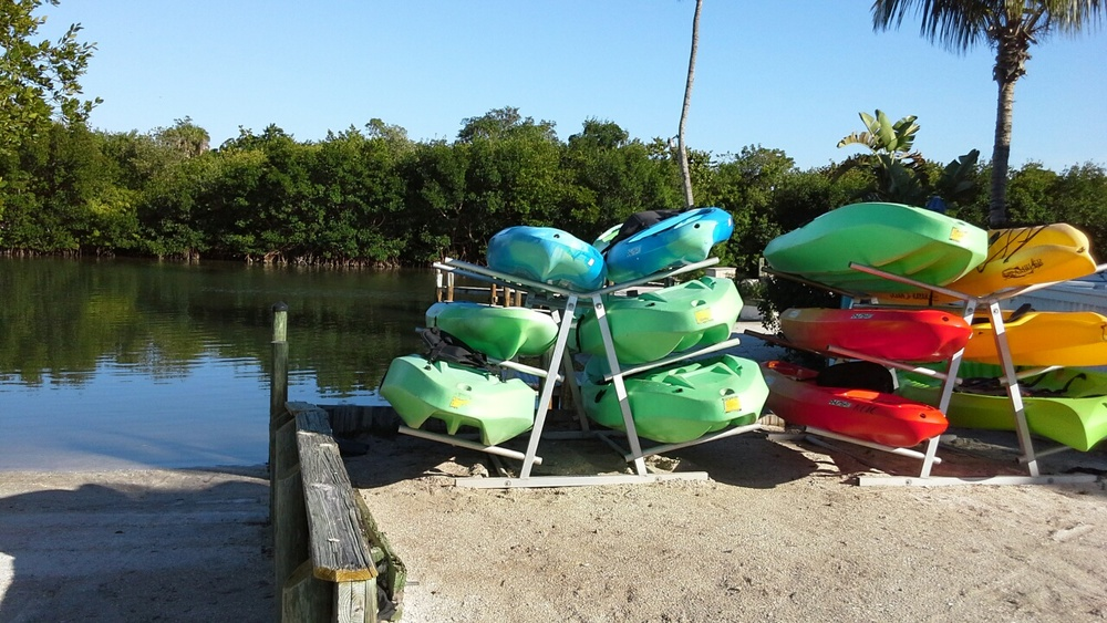 Kayaks available free for your use at the North Captiva Island Club