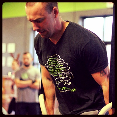 Soos killing some dips at our first in-house throwdown.