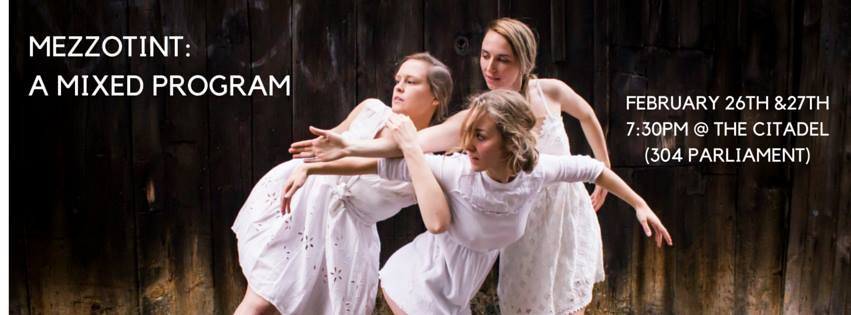 photo: Cassandra Wiesner's  Arrangement 2016 . dancers: Kate Hanson, Alison Keery, Julie McLachlan.