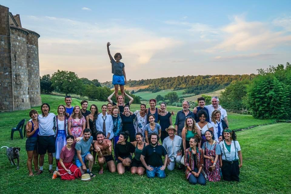 Familie Flöz Akademie 2018. The Abby at San Giusto, Tuscania, Italia. Photo: Gianni Bettucci