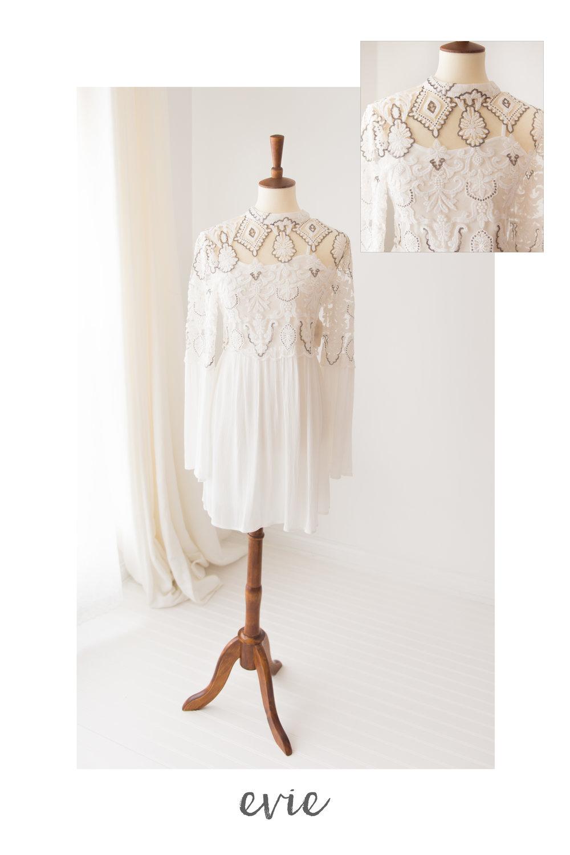 white dress evie