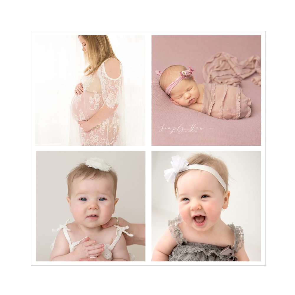 newborn maternity and first year baby photos girl