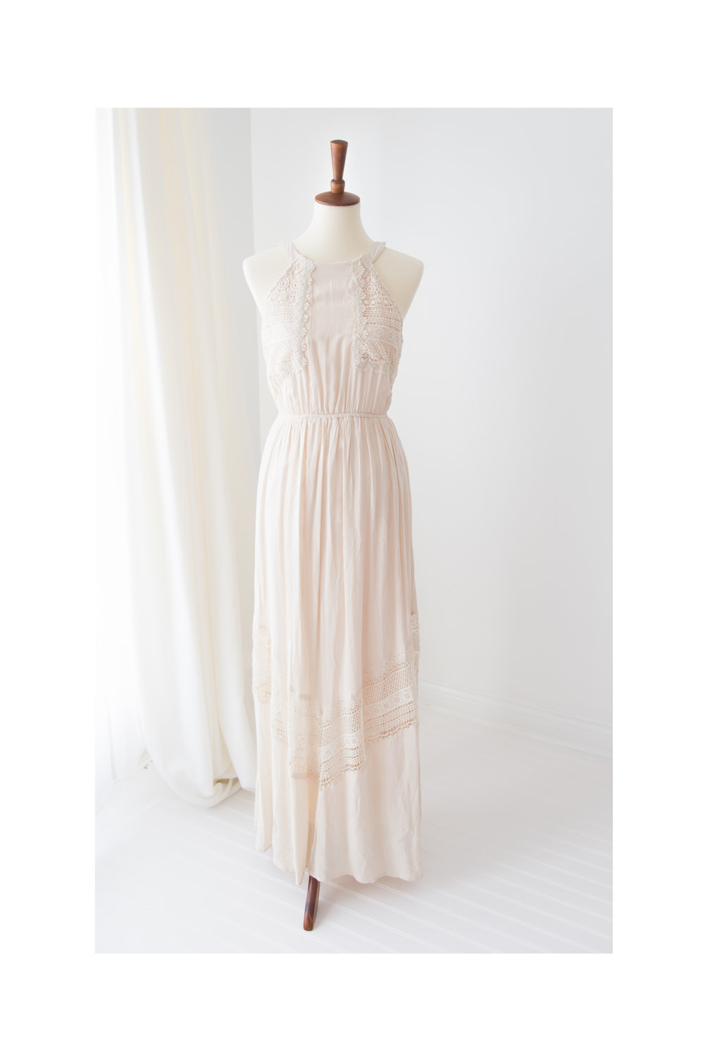 white sleeveless maxi dress altard state cream color