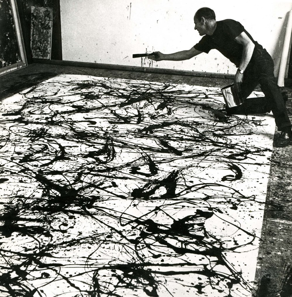 The famous and divergent Jackson Pollock painting.