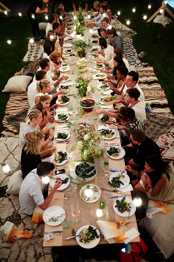 Dinner Party For 8 Ideas Part - 27: Boho Backyard Dinner Party