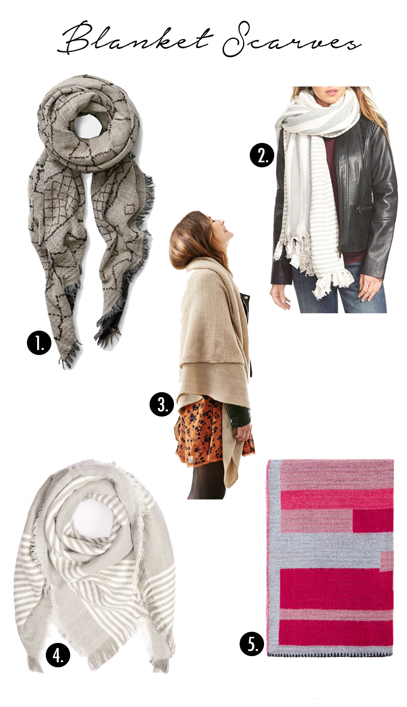 Blanket Scarves for Fall!
