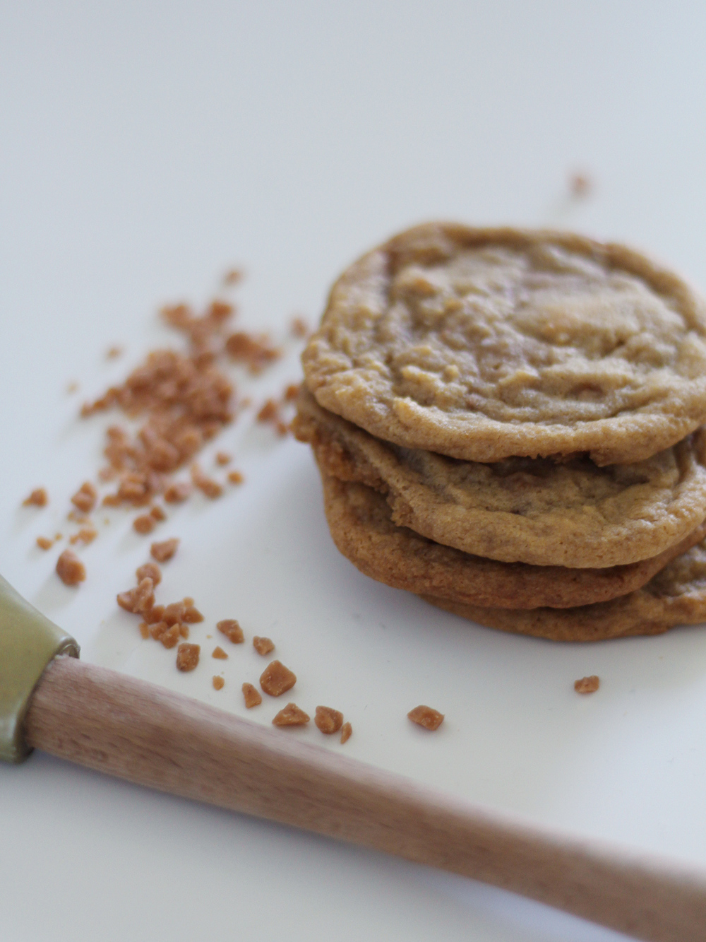 Salted skor bit cookies!