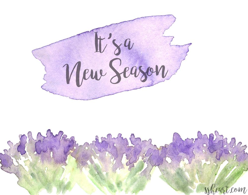 It's a new season.