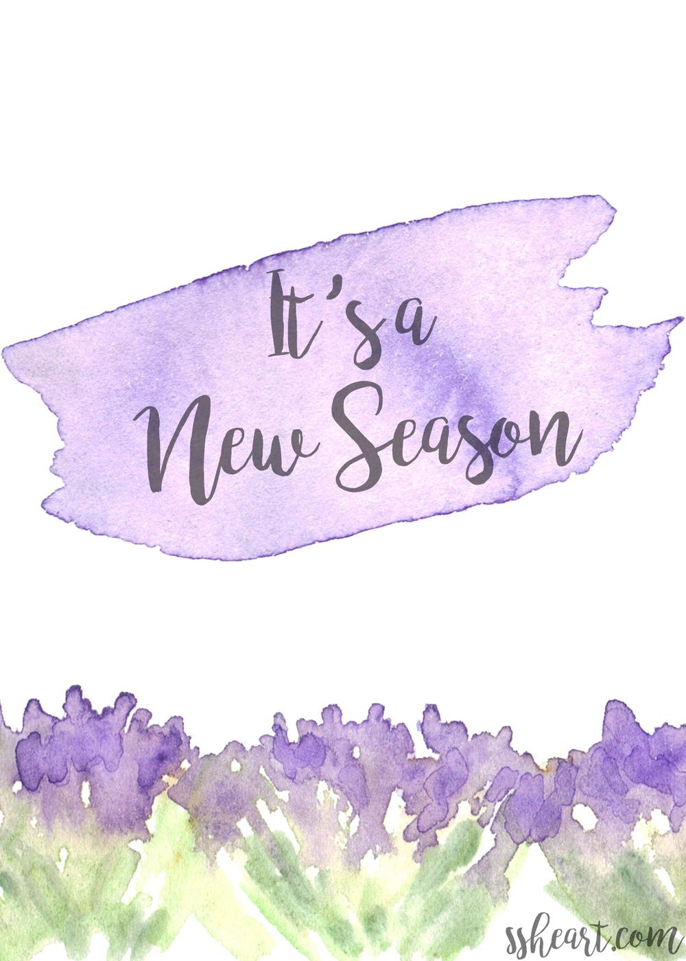 It's a New Season!!!