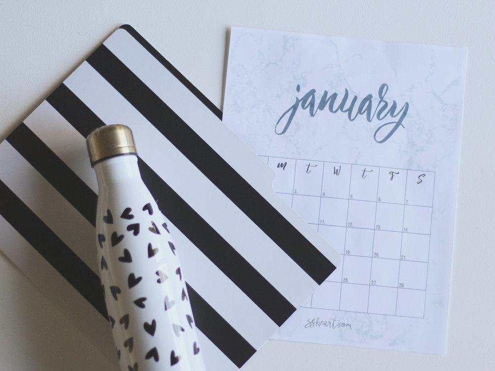 Printable January Calender