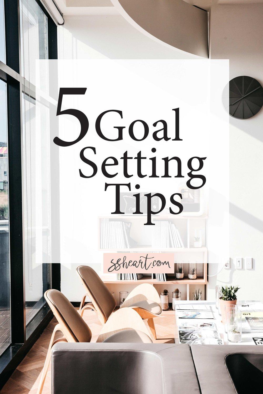 5 Goal Setting Tips