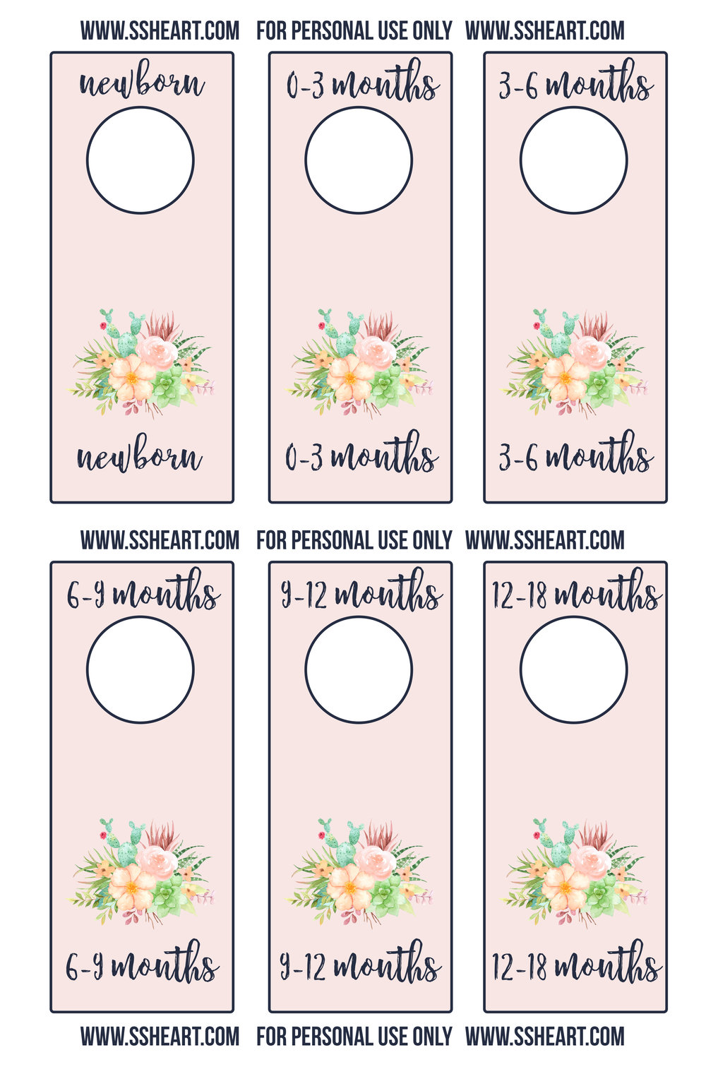 Printable nursery closet dividers!