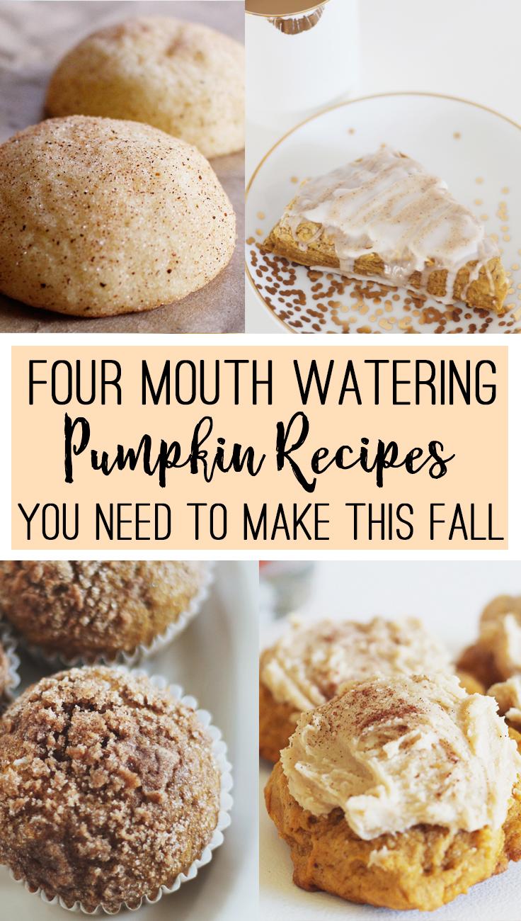 Four Pumpkin Recipes You need to Make this Fall