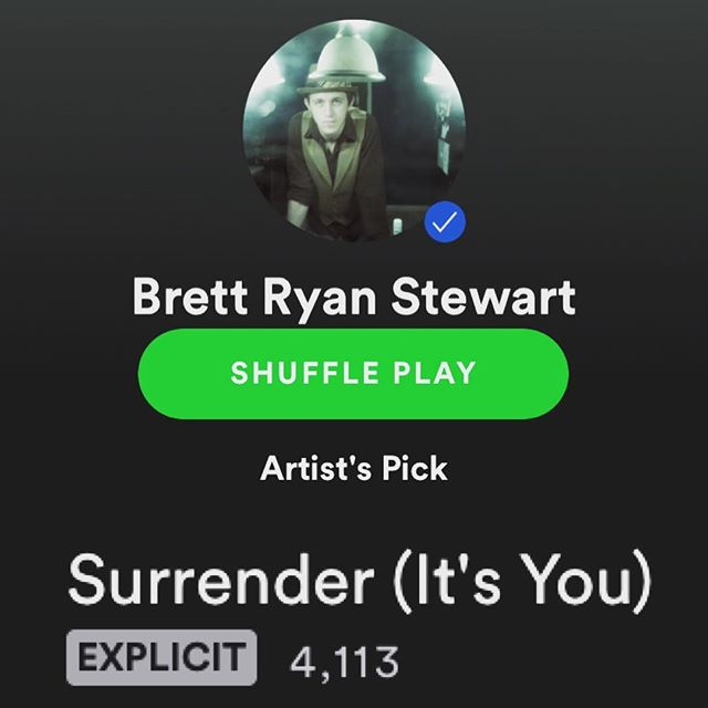 "Wow guys. Only a week into the release and already over 4K spins. That's a testament to your incredible support. Thank you!!! If you haven't yet listened to ""Surrender,"" or want another go, there's a ~Link In Bio~ Thank you again for the ongoing support! (I also enjoy the ""Explicit"" badge with not even a wink of a ""foul"" word.) . . . . . . . . #listentothis #newmusicalert #newsong #melody #lovethissong #favoritesong #feel #indieartist #indiemusic #independentartist #breakup #breakups #heartbreak #relationships"
