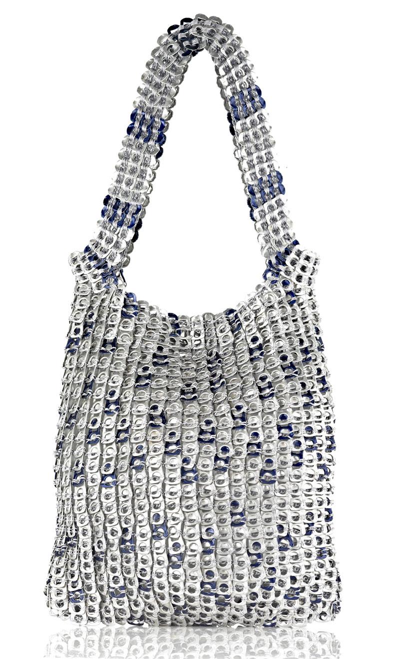 """With Blu"" Soda Can Tabs handbag made by Manos Amorosas (Bogota, Colombia)"