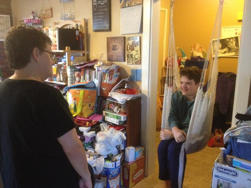 Tricia Elsner and her son Ian, who has severe autism -- ASHLEY GROSS KPLU