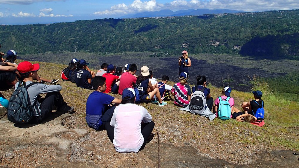 Bali, Mt Batur, Bryony Teaching.JPG