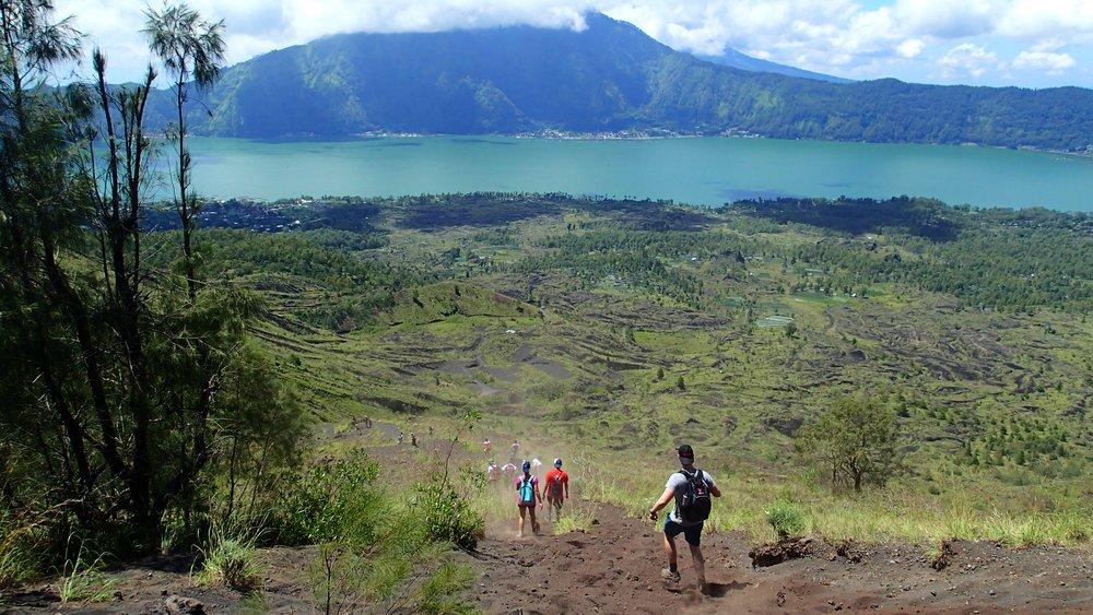 Bali, Mt Batur, Trekking, Students, Volcano Caldera View, AISM.JPG