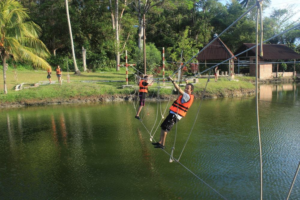 Sedili, Tanjung Sutera Resort, Low Ropes, Water Course, Pond (25).JPG