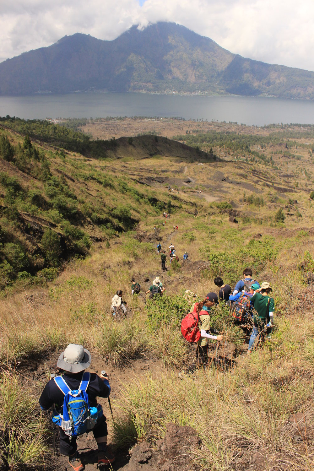 Bali, Mt Batur Trek, Trekking, Walking, Students, View, Scenery, Mountain, Lake GIST - Caltech.JPG