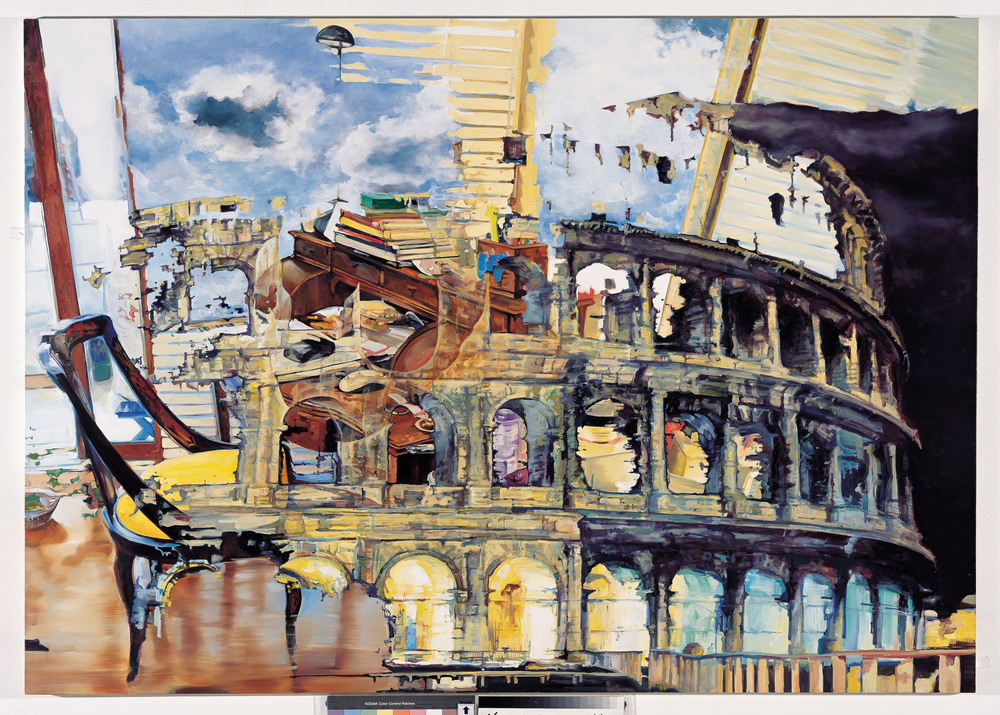Colosseum+Dressing Table_3  2007, Oil on canvas,162 x 227.3 cm (63 3/4x89 1/2in)