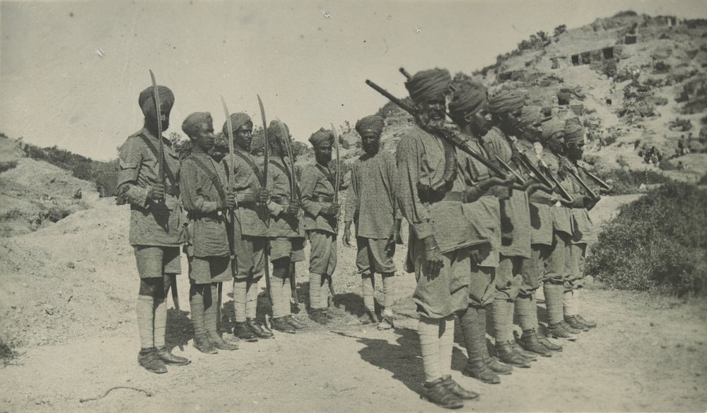 21st Indian Battery Guard. Photograph taken in 1915 by Sergeant Charles Alexander Masters while on active service with the Australian Imperial Force in Gallipoli.