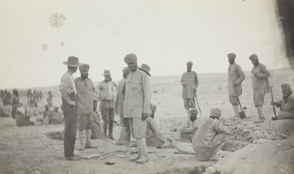 Sikh trenches in Sinai Peninsula