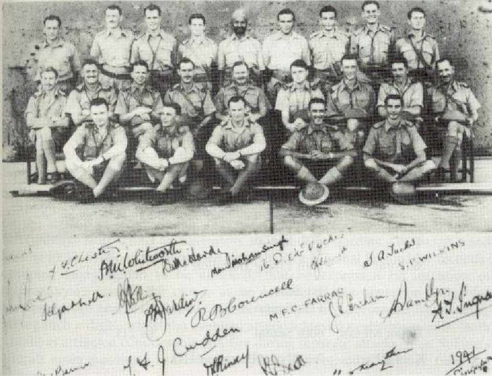 Manmohan Singh (Middle, Back Row) with 205 Squadron