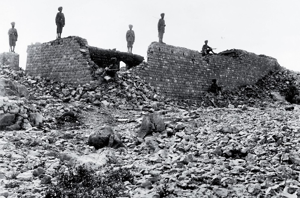 The ruins of Saragarhi