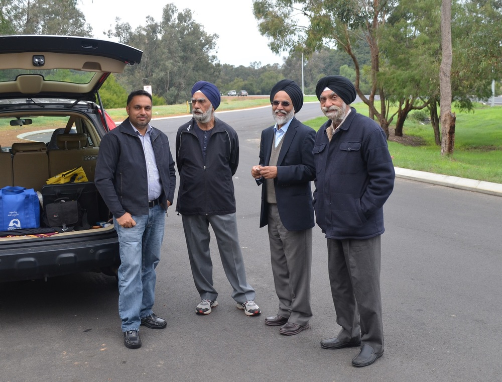 Members of ASHA and the Sikh community (from the left, Harmeek Singh, Dr Amarjeet Singh, Amarjit Singh Pabla and Paramjit Singh)