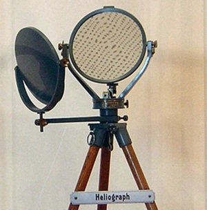The instrument used to communicate between Saragarhi and Fort Gulistan.