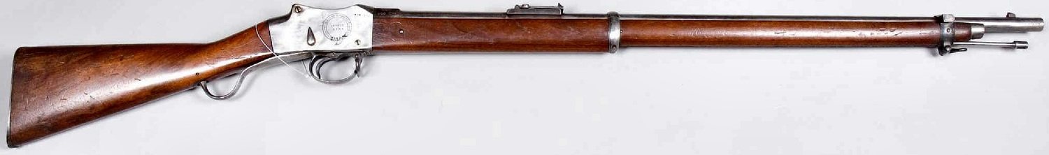 Martini Henry rifles first entered service with the British Army in 1871 and quickly became its mainstay. Colonial units such as the Sikhs and Gurkhas only received them after all the British units were equipped. It had only been a few months since these frontier regiments were equipped with these rifles replacing the venerable Enfield. Capable of firing ten .303 calibre rounds a minute it proved to be more than a match to the antiquated muzzle loading rifles possessed by the tribesmen. The effective range of the Henry Martini rifle was around 600 yards (550m).